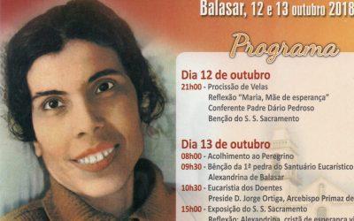 Festa Litúrgica em honra da Beata Alexandrina
